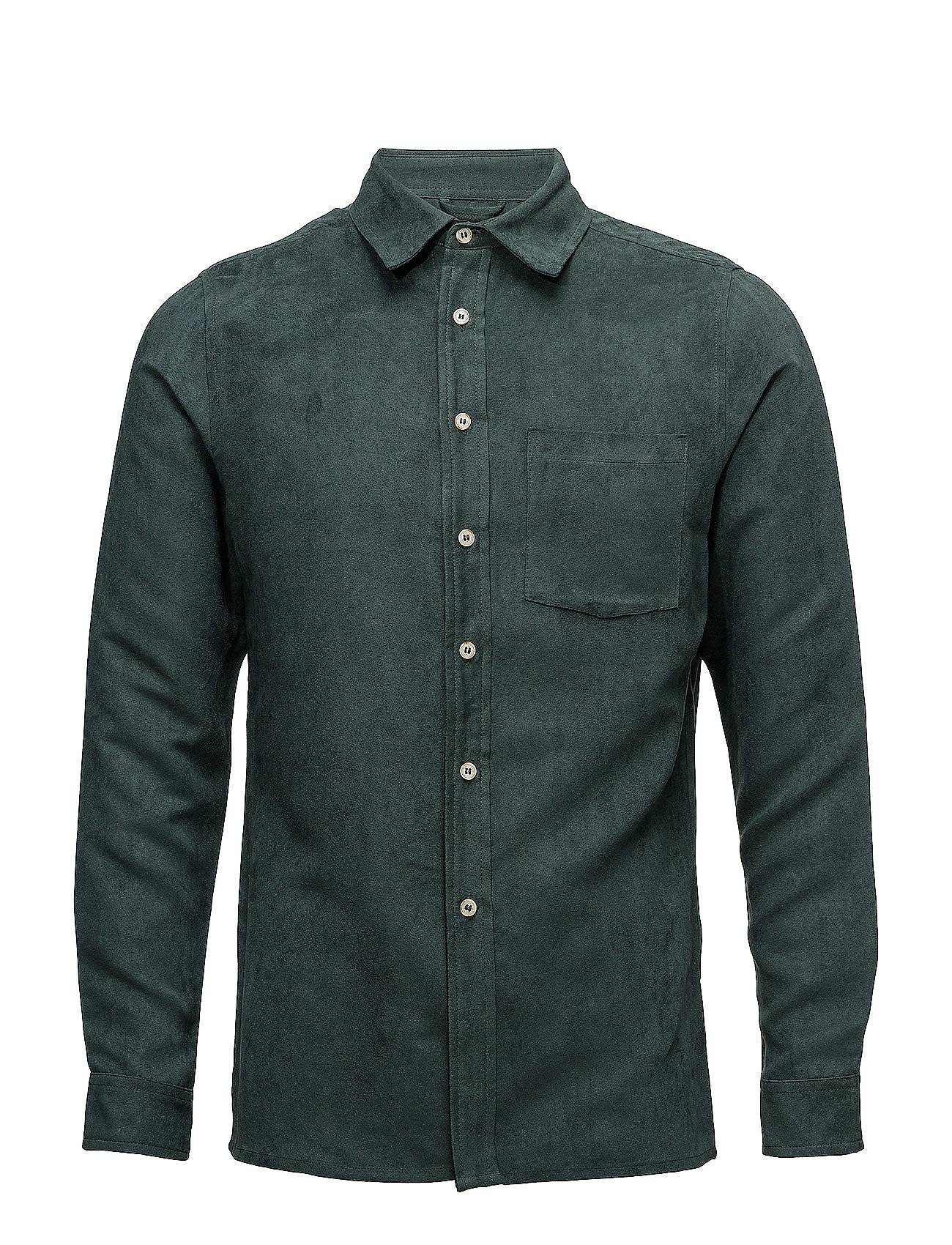 Knowledge Cotton Apparel Suede Shirt - Grs