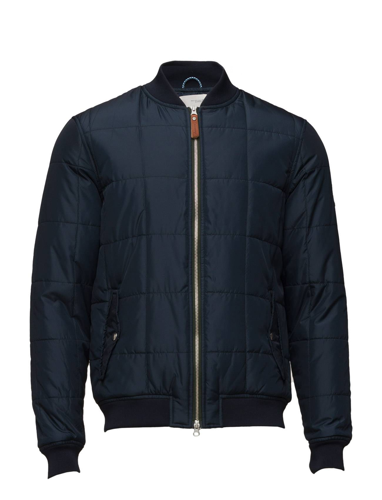 Knowledge Cotton Apparel Quilted Bomber Jacket - Grs