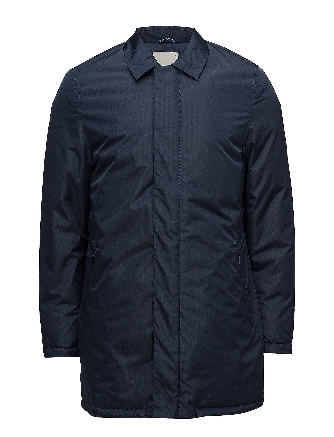 Knowledge Cotton Apparel Rib Stop Functional Long Jacket - G