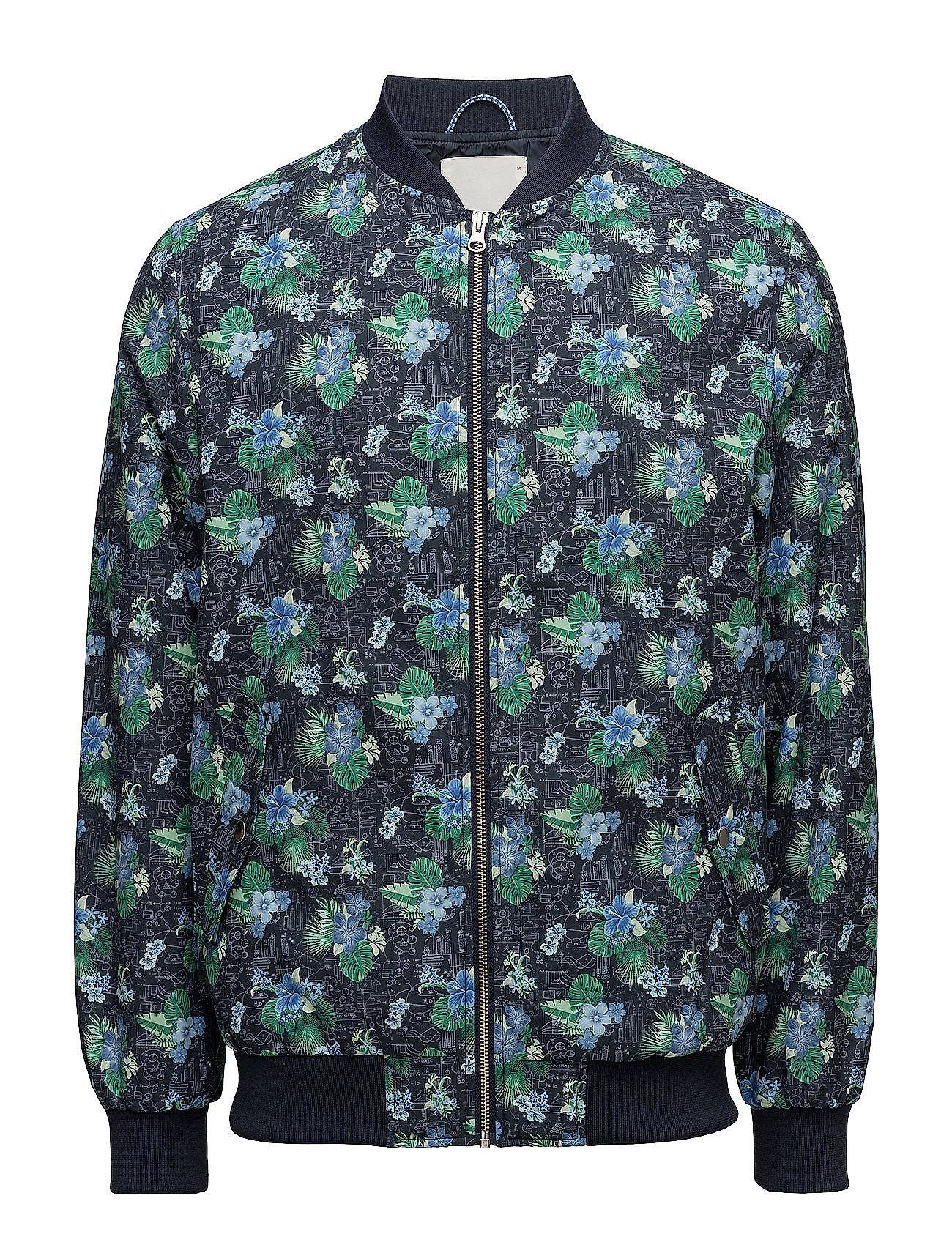 Knowledge Cotton Apparel Pilot Jacket With Print - Grs