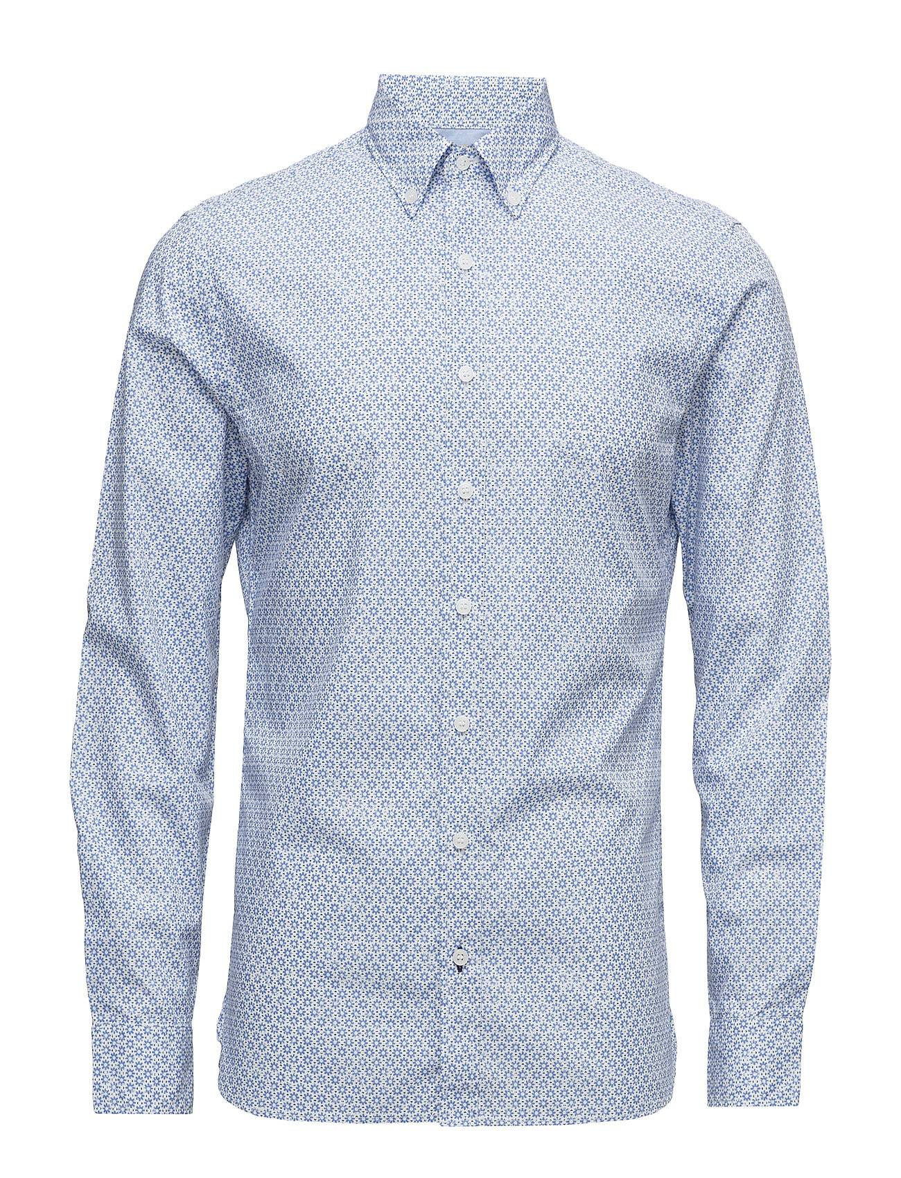 Mango Man Slim-Fit Tie Print Shirt