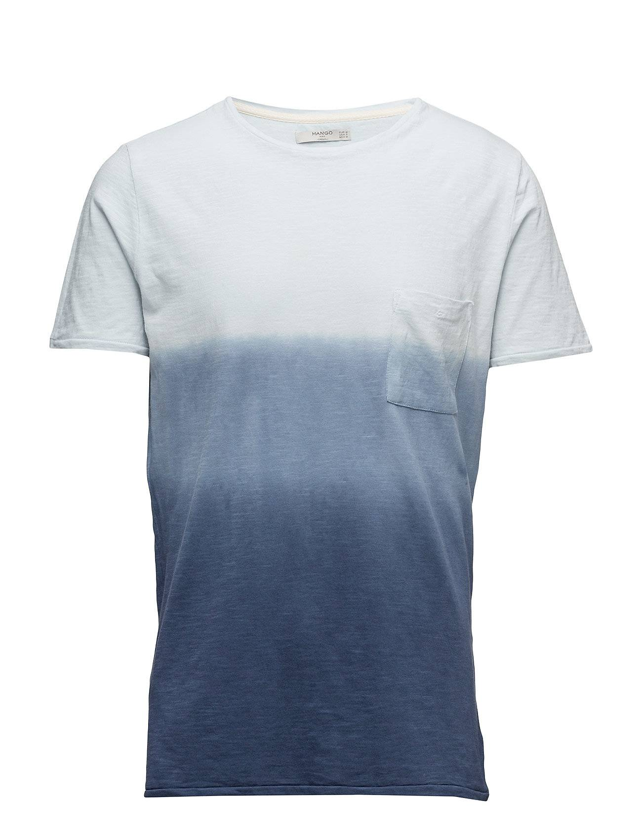 Mango Man Ombr-Stripe Cotton T-Shirt