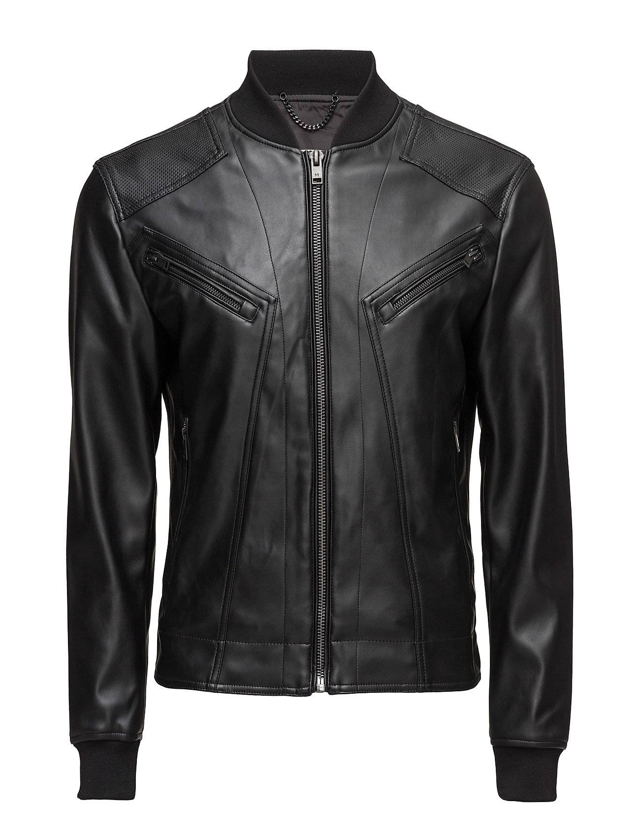 Mango Man Zipped Biker Jacket