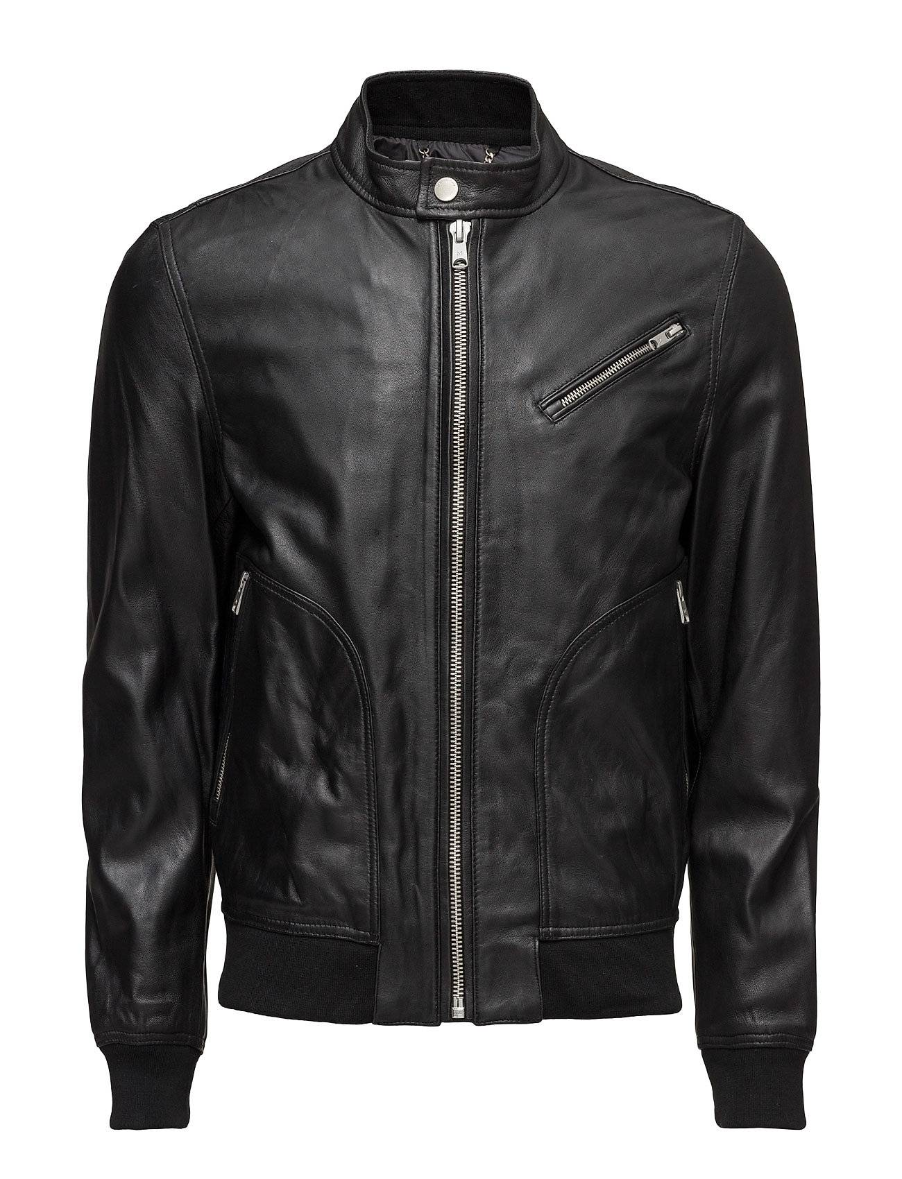 Mango Man Leather Biker Jacket