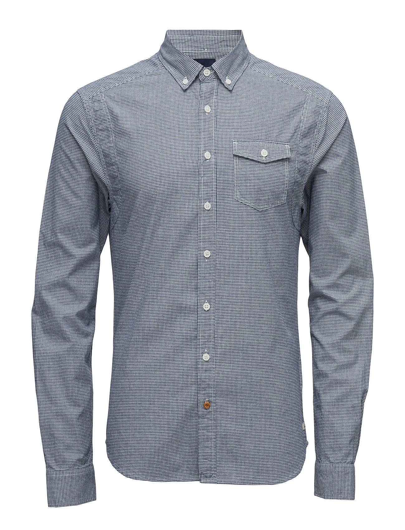 Scotch & Soda Lightweight Brushed Flannel Shirt With Workwear Elements