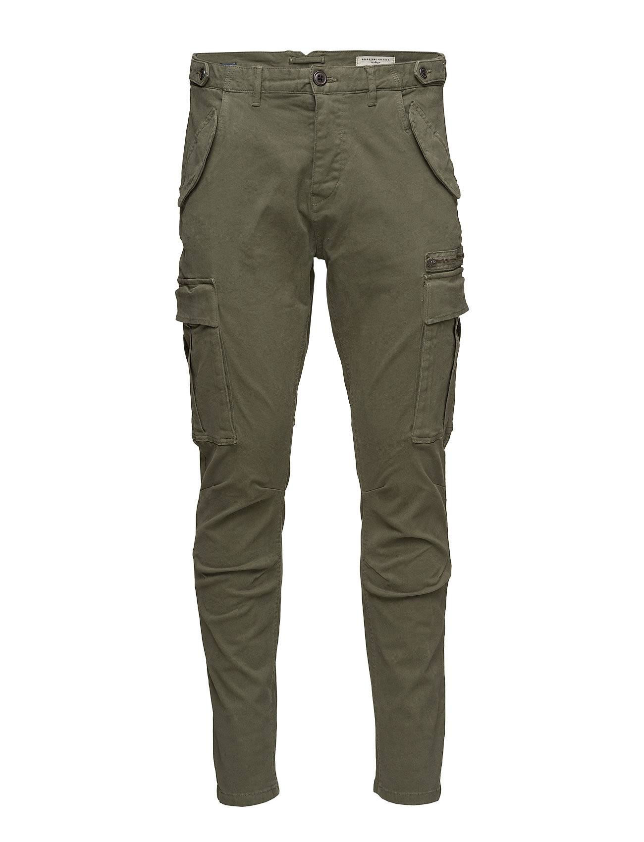 Selected Homme Shxnaples Olive Slim Cargo St Pants