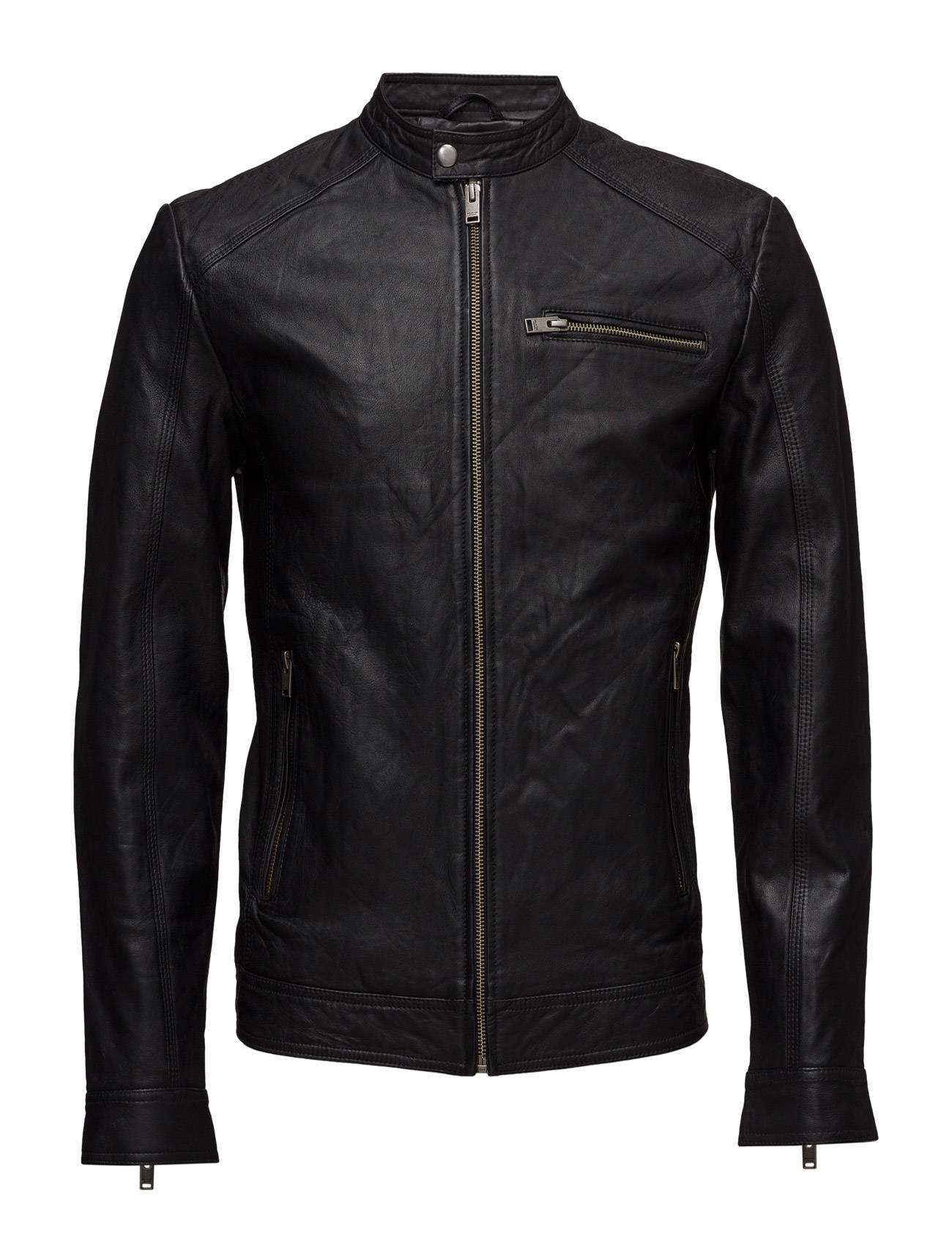 Selected Homme Shnnew Tylor Leather Jkt Noos