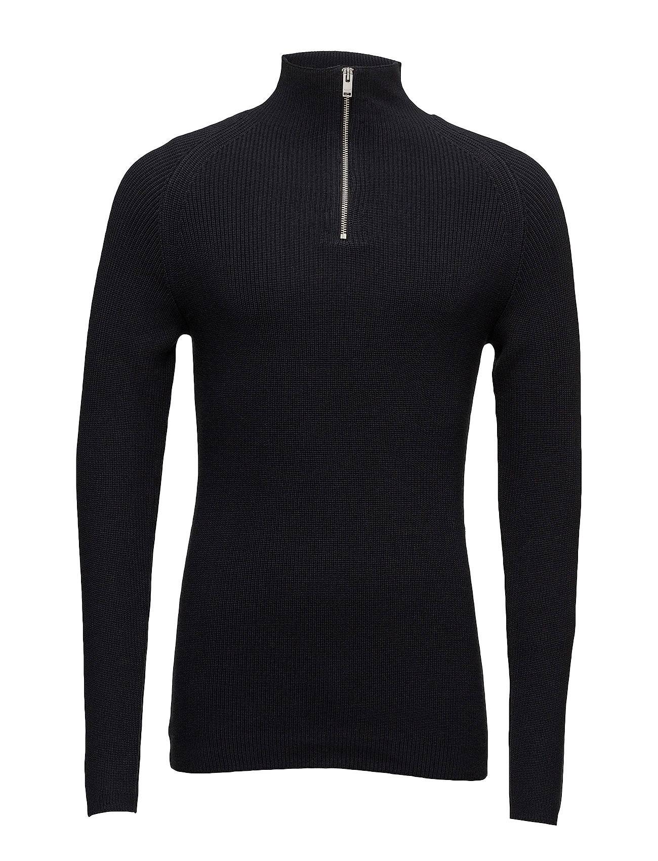 Selected Homme Shhstitch Zip Neck