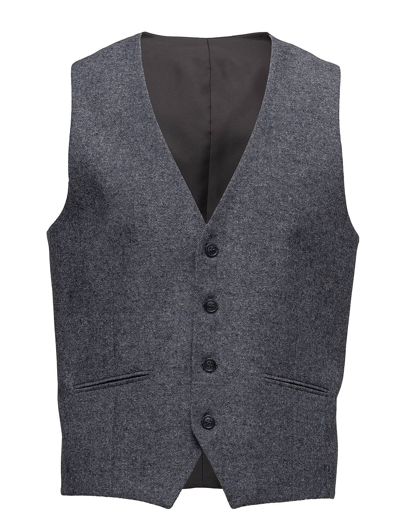 Selected Homme Shdone-Mylo Iver Grey Donegal Waistcoat