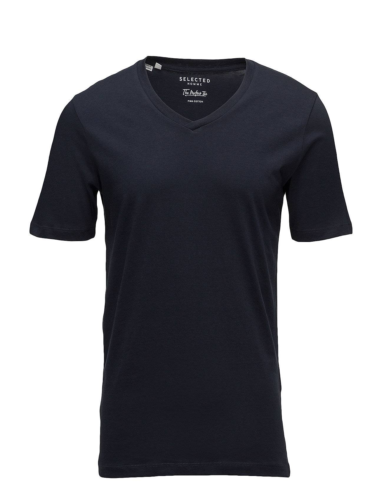 Selected Homme Slhtheperfect Ss V-Neck Tee B Noos