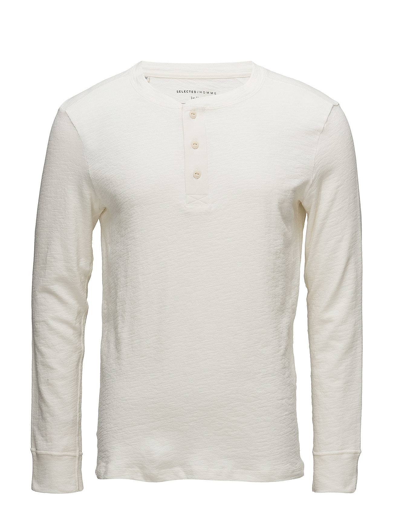 Selected Homme Shngrand Ls Split Neck Tee