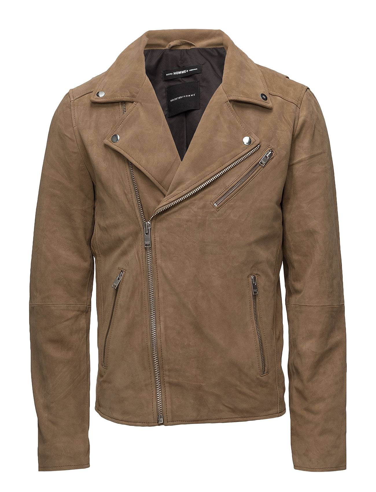 Selected Homme Shxbilly Suede Biker Jacket