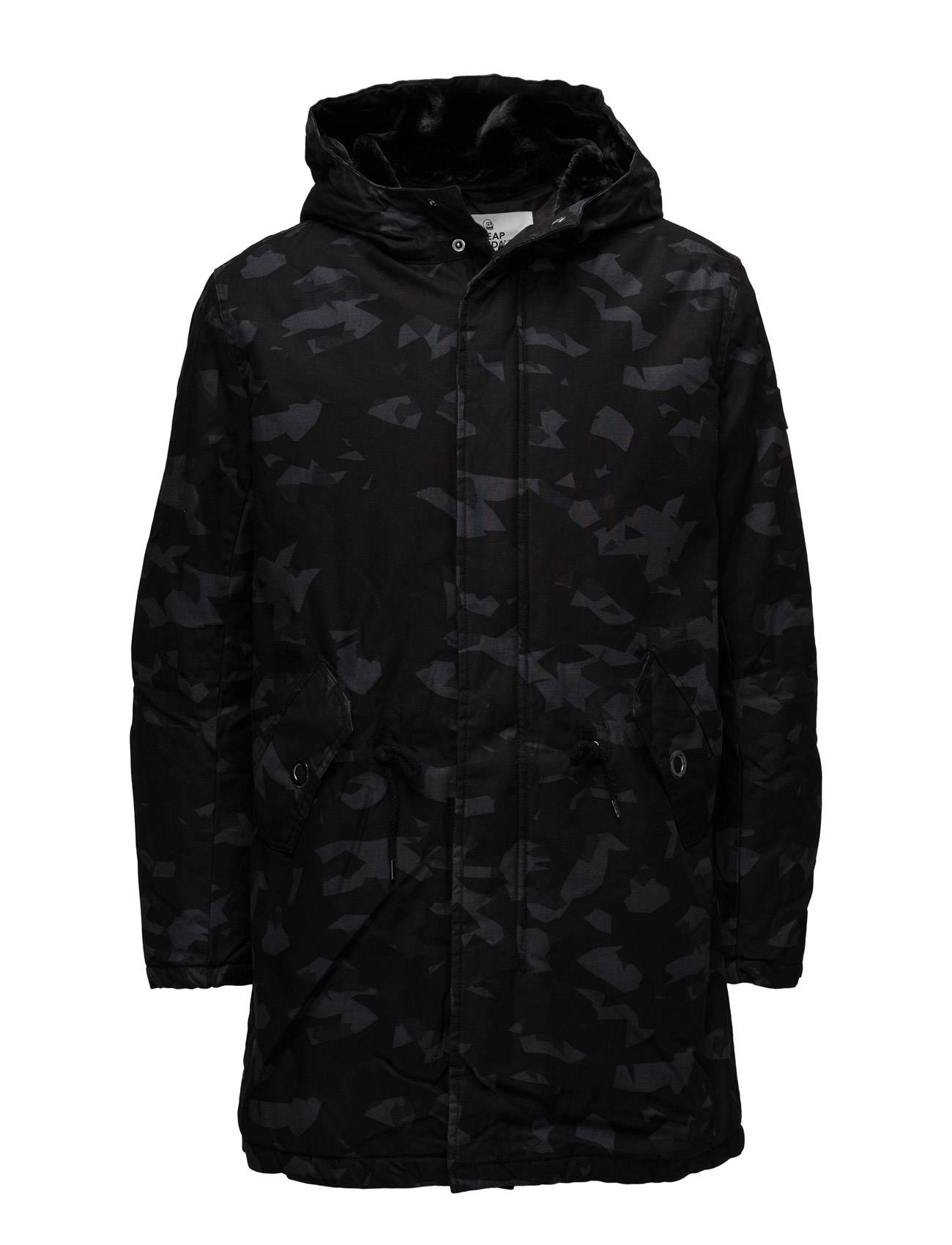 Cheap Monday Cage Camo Parka Simple Invader