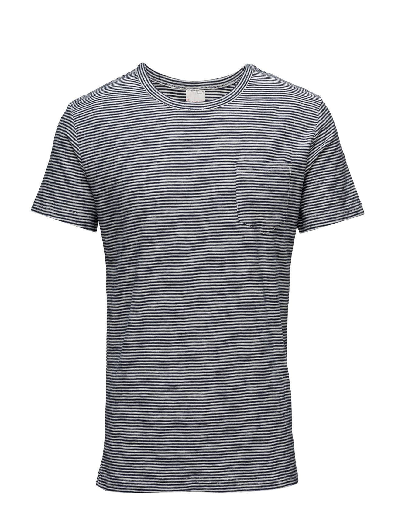 Knowledge Cotton Apparel Reverse Striped Tee - Gots