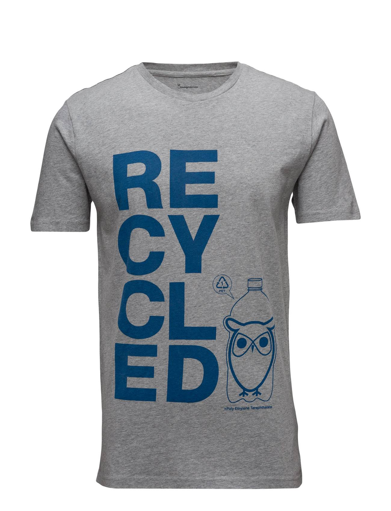 Knowledge Cotton Apparel T-Shirt W/Recycle Print - Gots