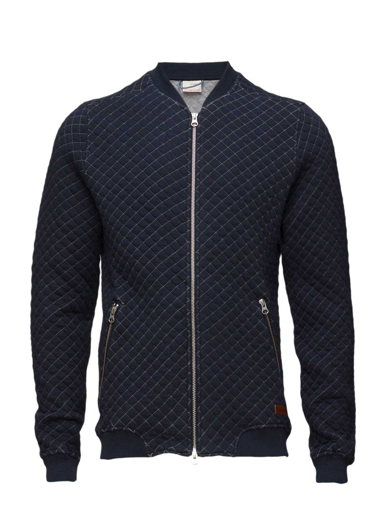 Knowledge Cotton Apparel Quilted Bomber Cardigan