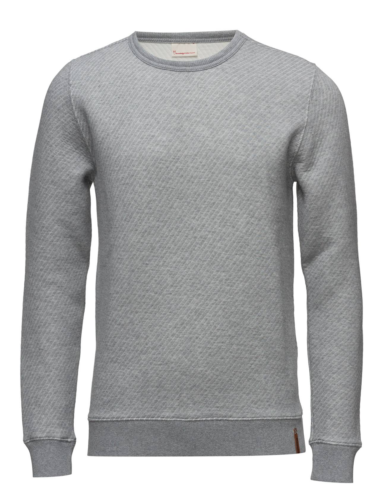 Knowledge Cotton Apparel Diagonal Quilted Sweat Shirt - Ocs