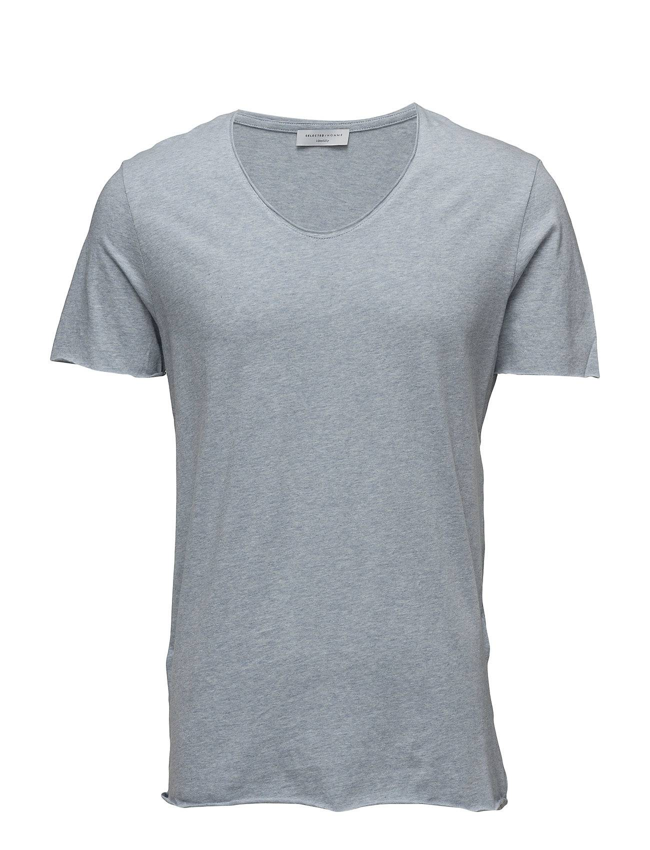 Selected Homme Shdmerce Melange Ss O-Neck Tee Noos