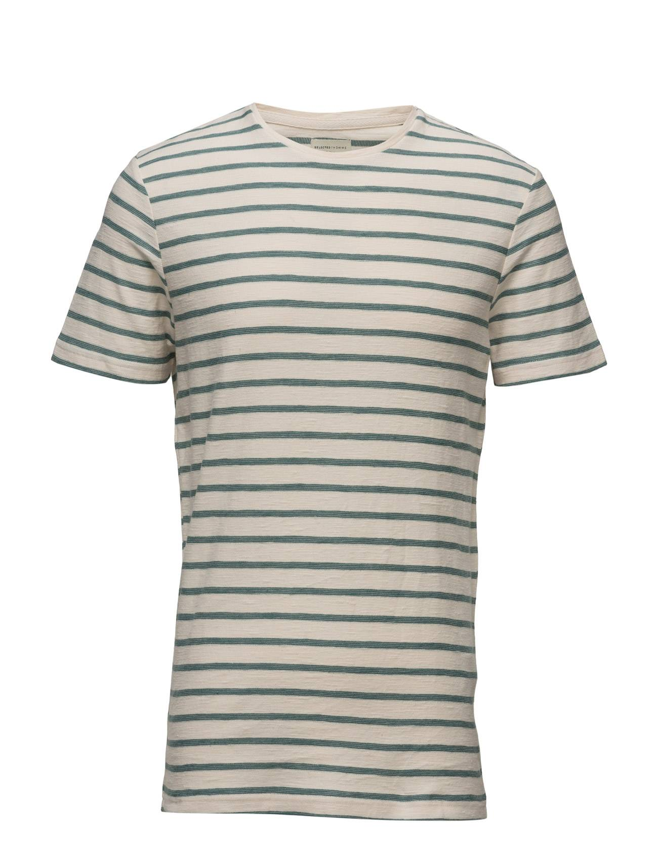 Selected Homme Shhkris Stripe Ss O-Neck Tee Noos