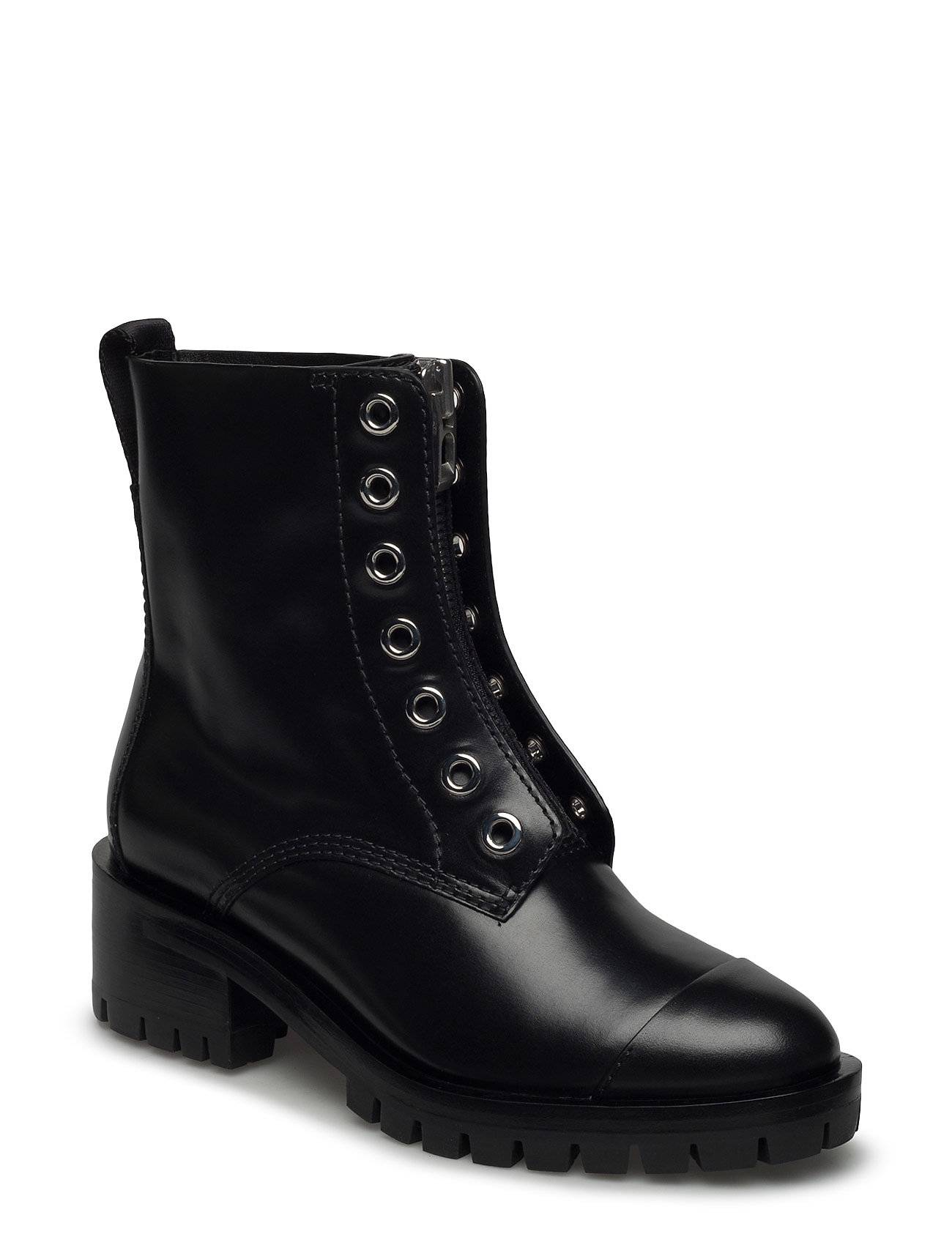 3.1 Phillip Lim Hayett - Lug Sole Zipper Boot With Knitted Lace