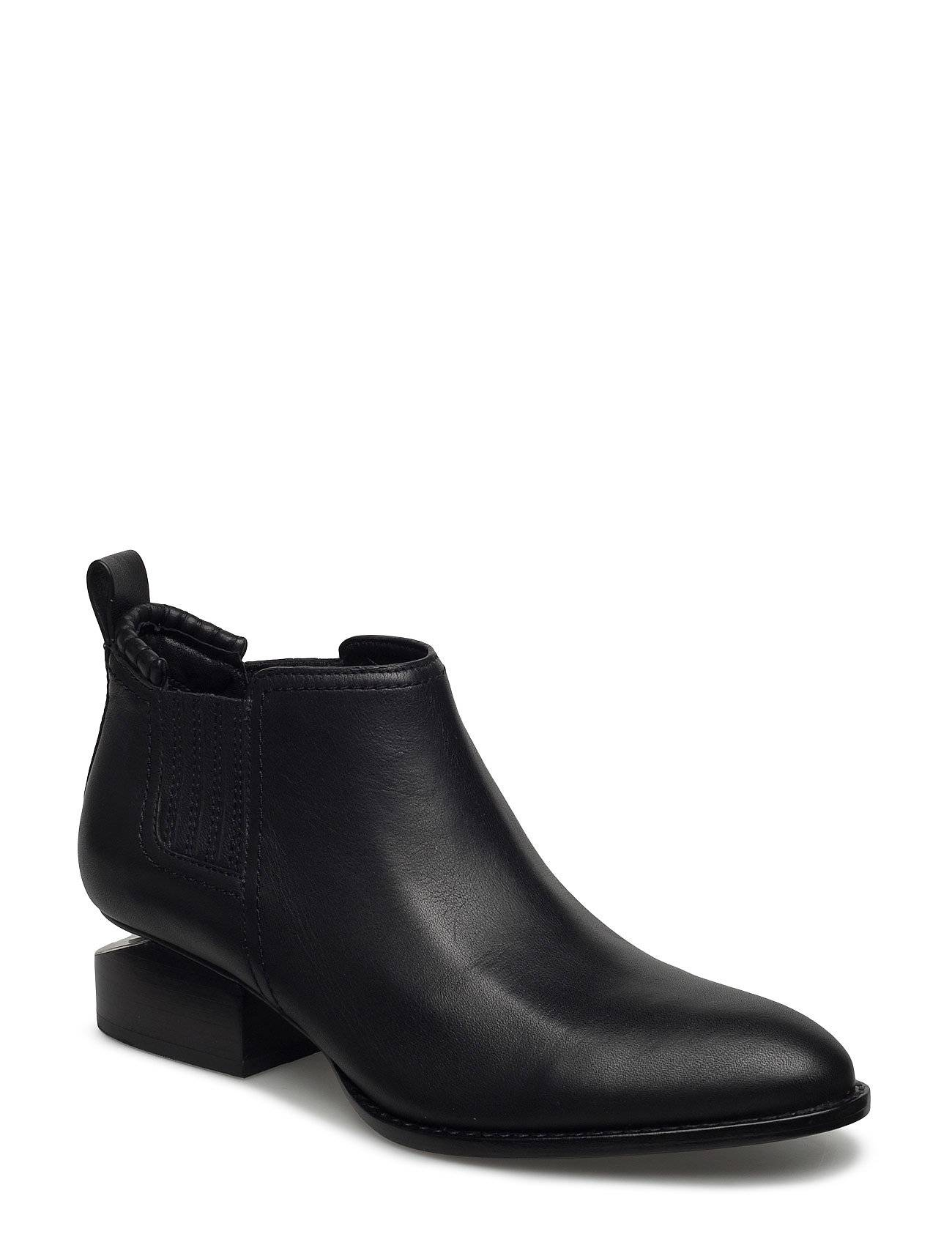 Alexander Wang Kori Black Tumbled Calf/Rhodium