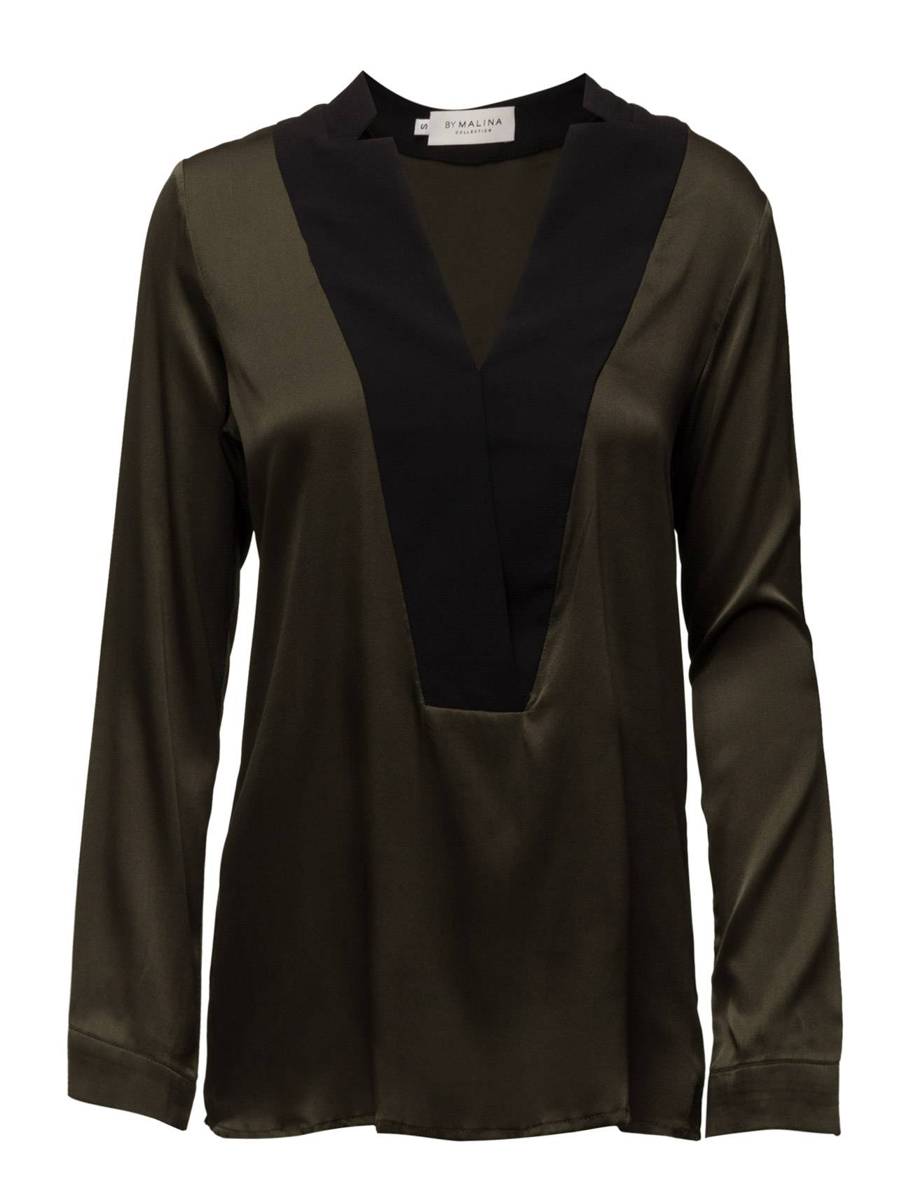 By Malina Stacy Tuxedo Blouse