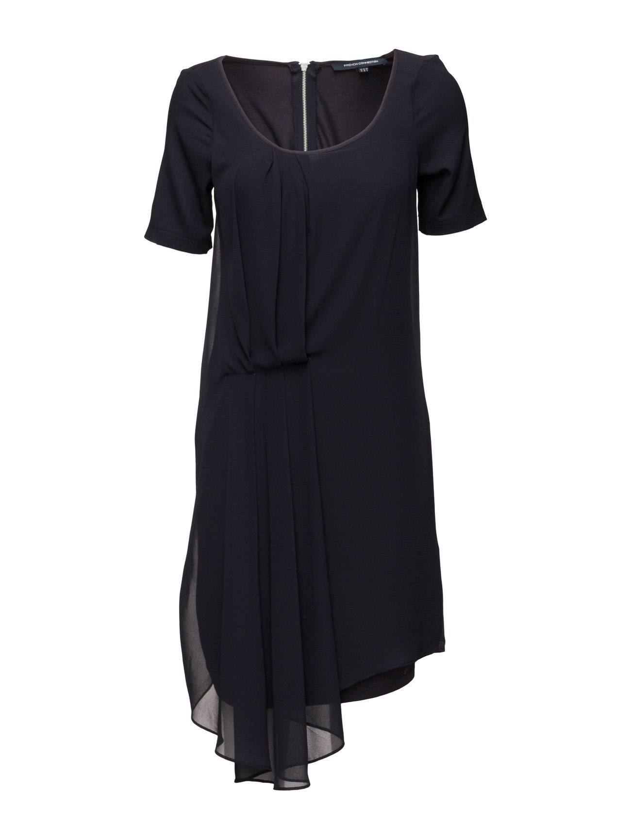 French Connection Florrie Drape Ss Roundneck Dress