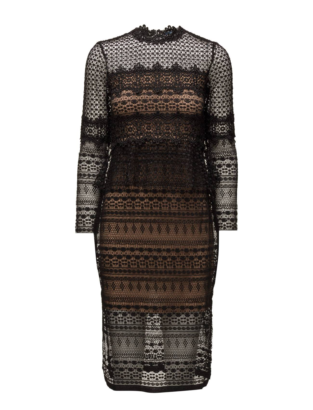 French Connection Petra Lace Beau Ls Midi Dress