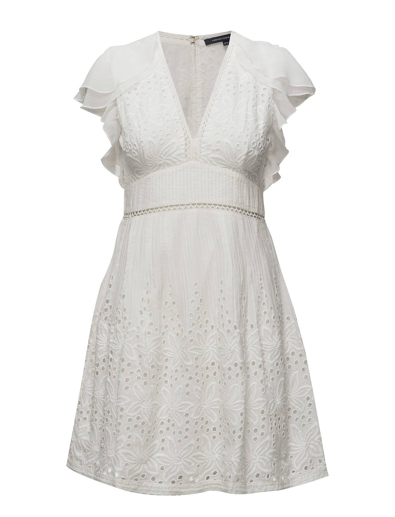 French Connection Hesse Broderie S/Ls Vnk Dress