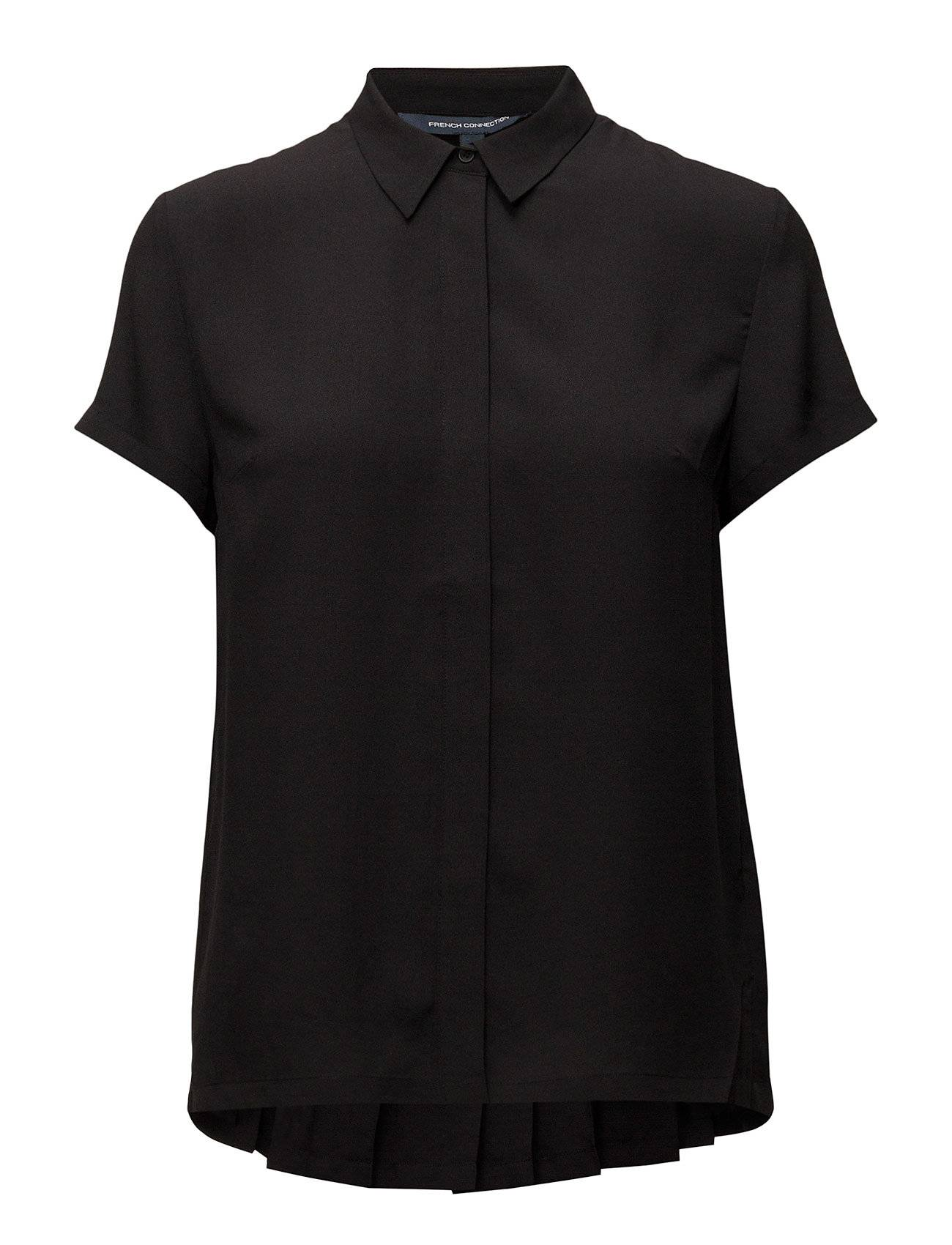 French Connection Crepe Light Ss Pleat Back Tee