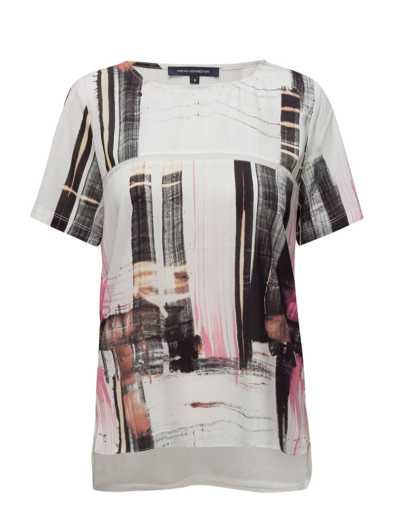 French Connection Cornell Crepe Lght Rdnk Top