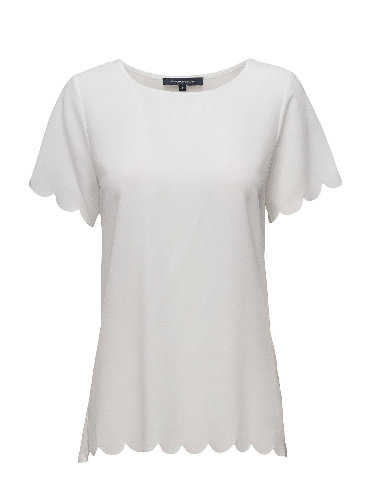 French Connection Classic Crepe Lght Ss Rdnk Top