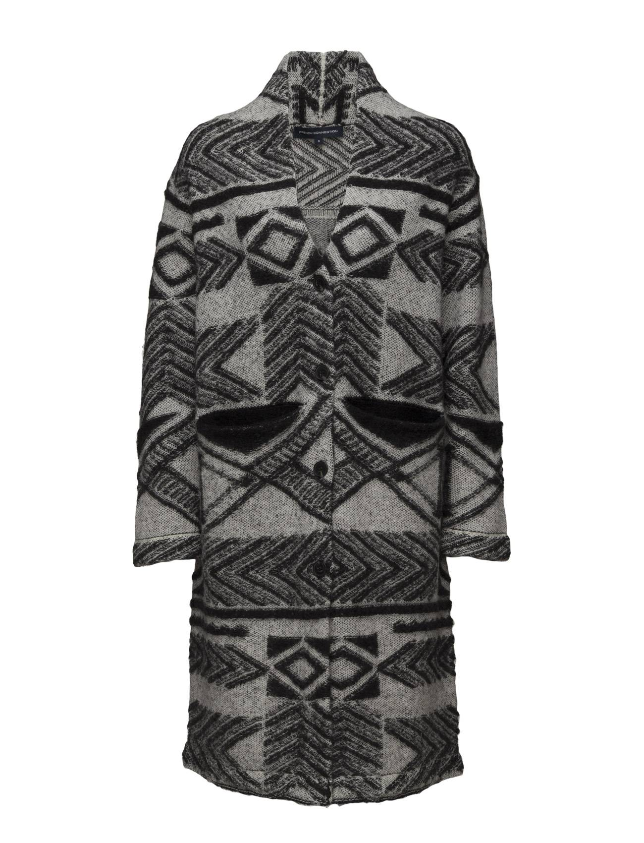 French Connection 3d Coatigan Ls Knitted Coat