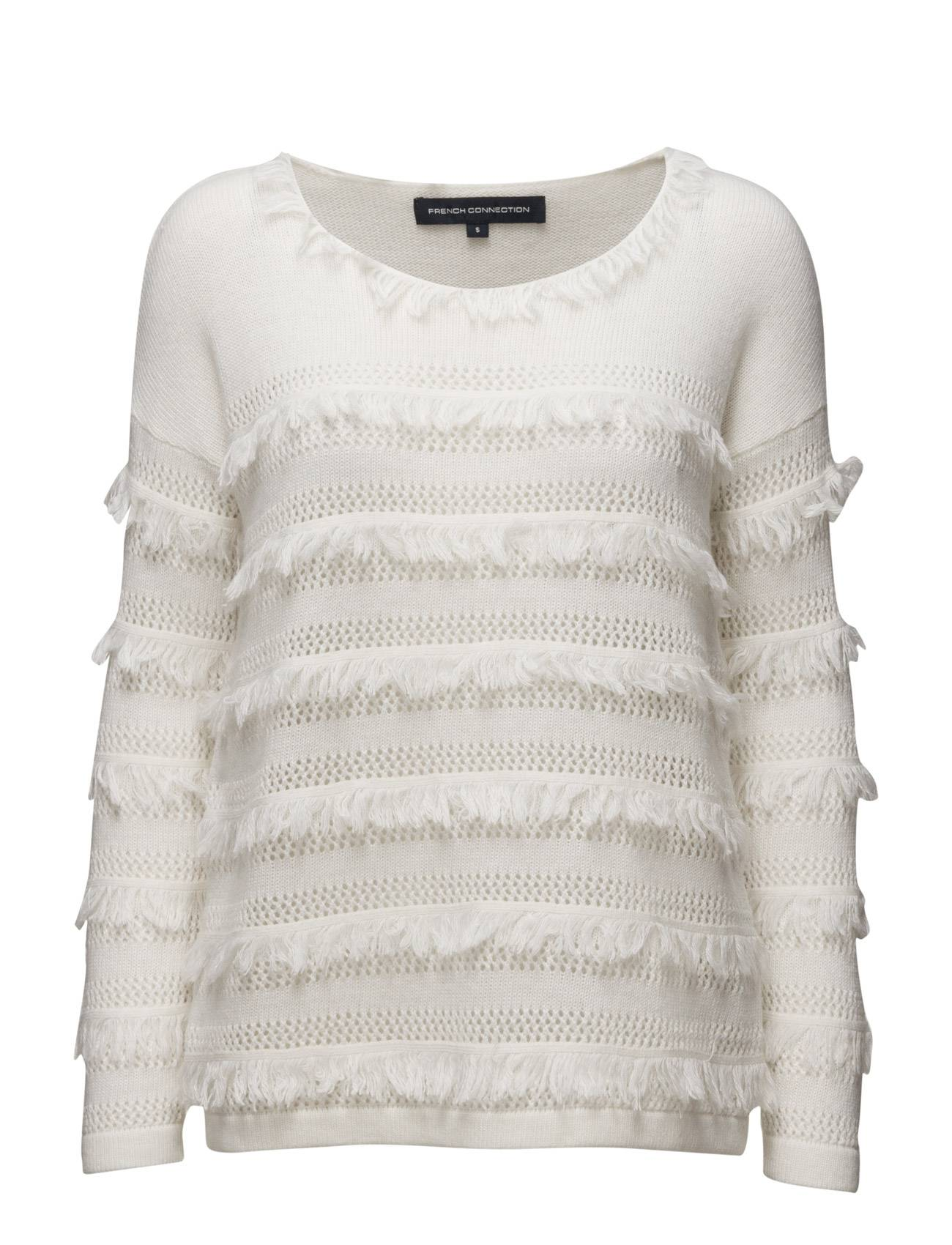 French Connection Pointelle Fringing Ls Rdnk Jmp