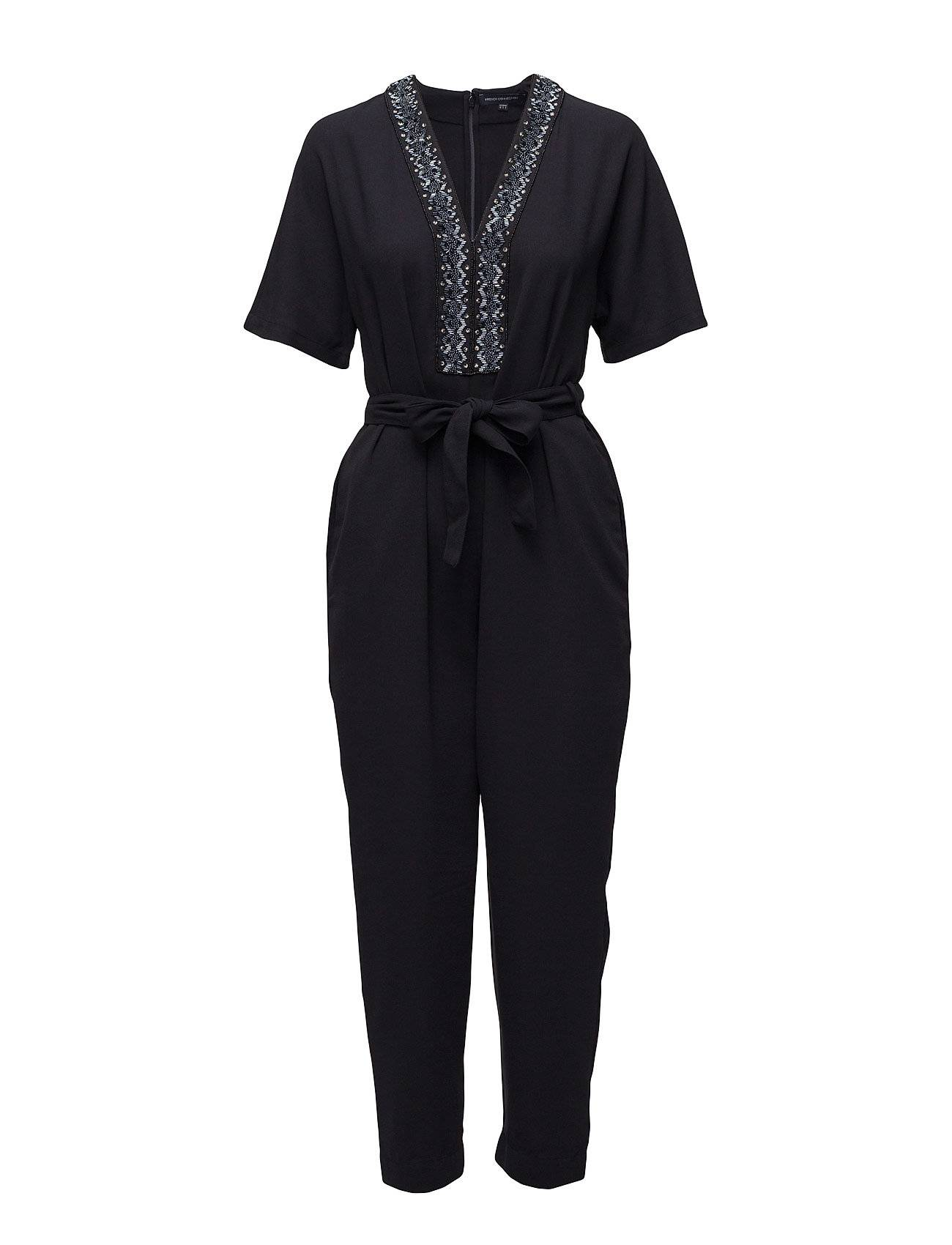 French Connection Karlo Embellished Tie Waist Jumpsuit