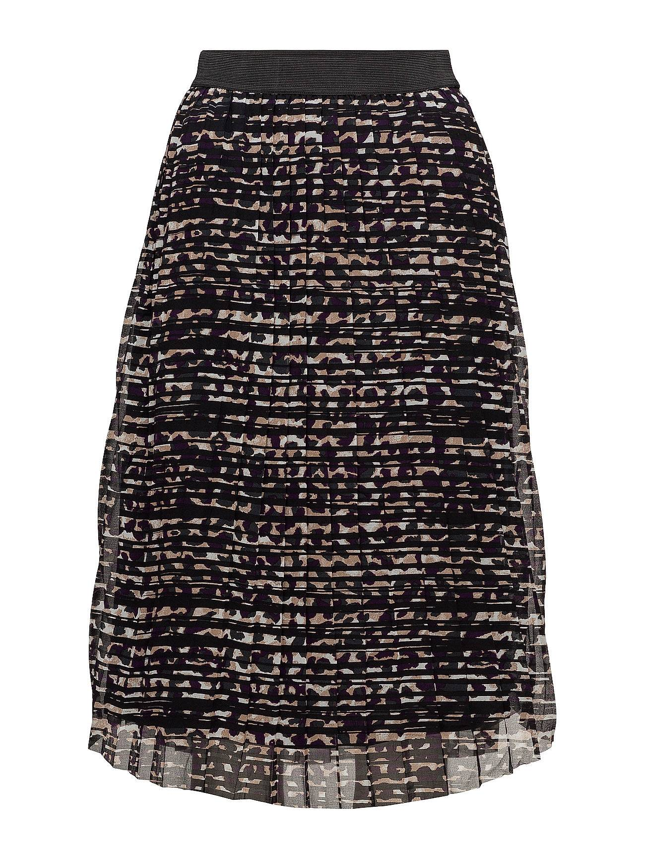 Saint Tropez Black Panter Print Skirt