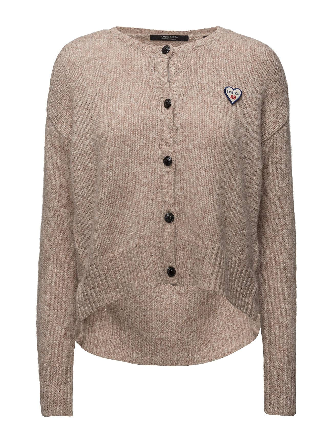 Scotch & Soda Loose Fitted Cardigan With Big Slit At Bottom