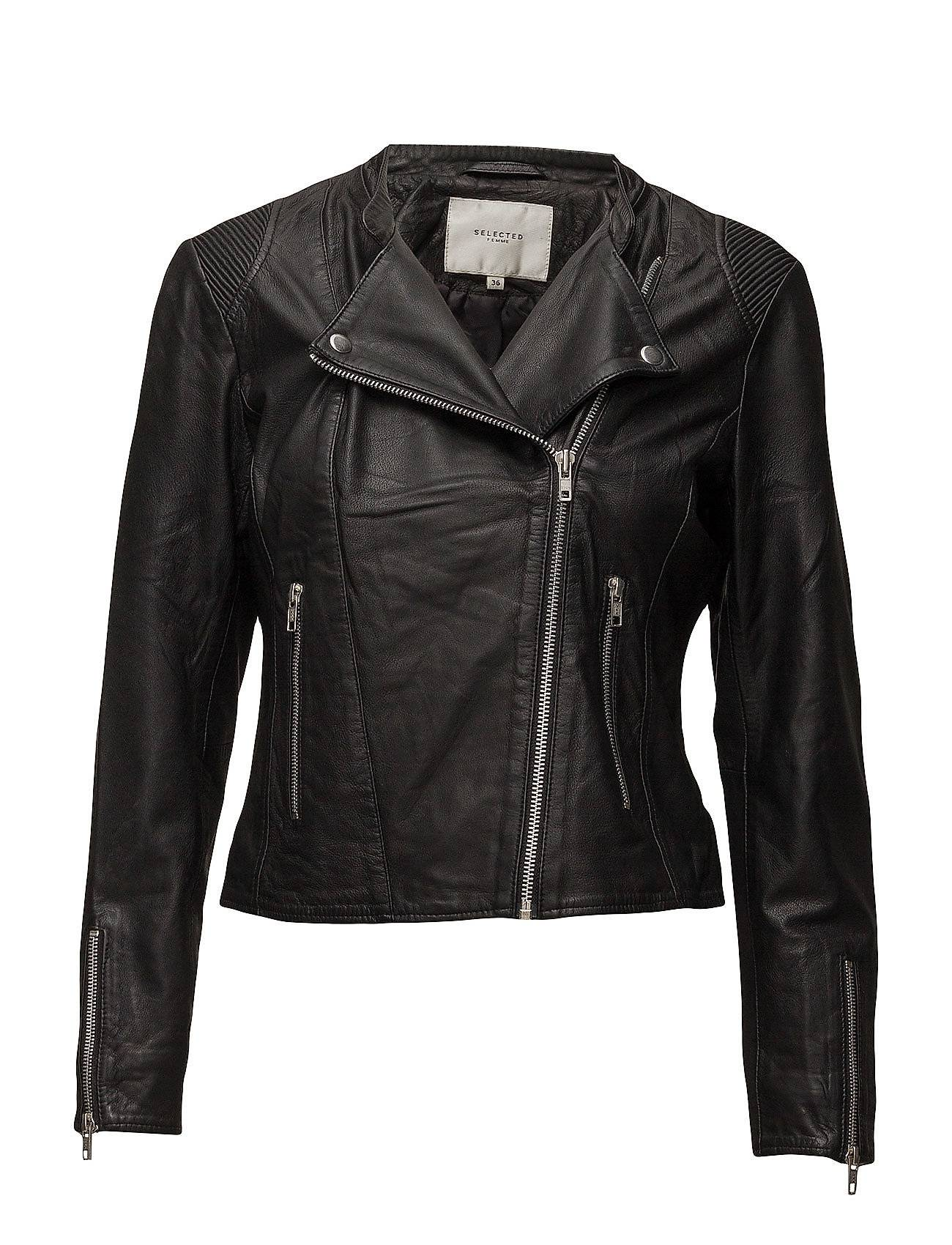 Selected Femme Sfstelta Leather Jacket