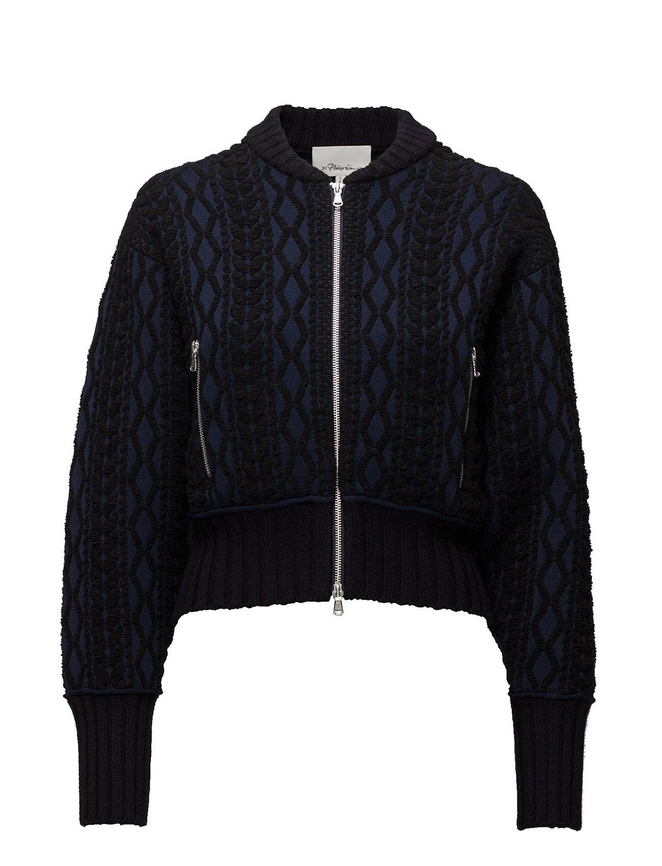 3.1 Phillip Lim Woven Mock Cable Bomber