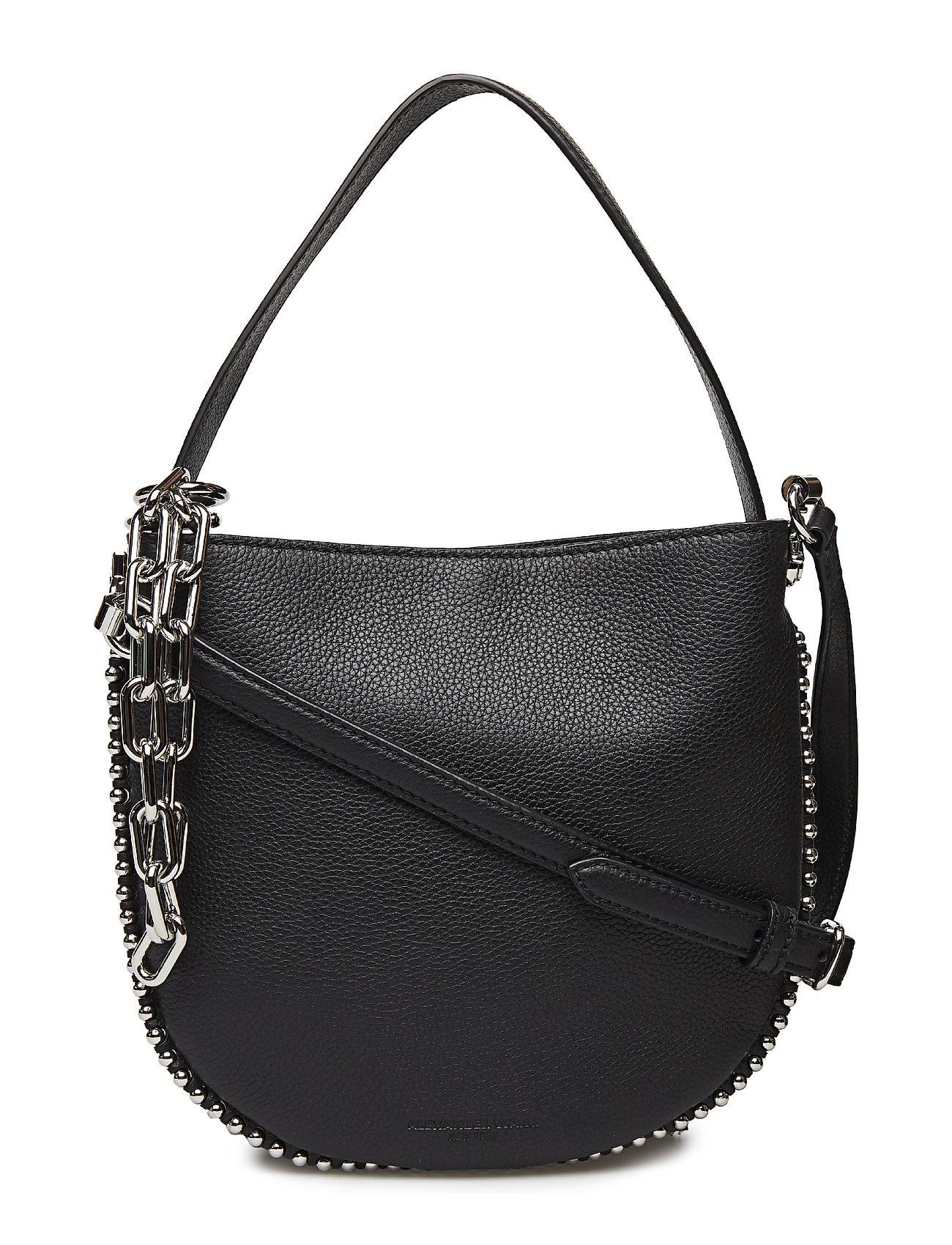 Alexander Wang Roxy Mini Hobo Xbody Blk Rfnd Pebble Calf/Ir