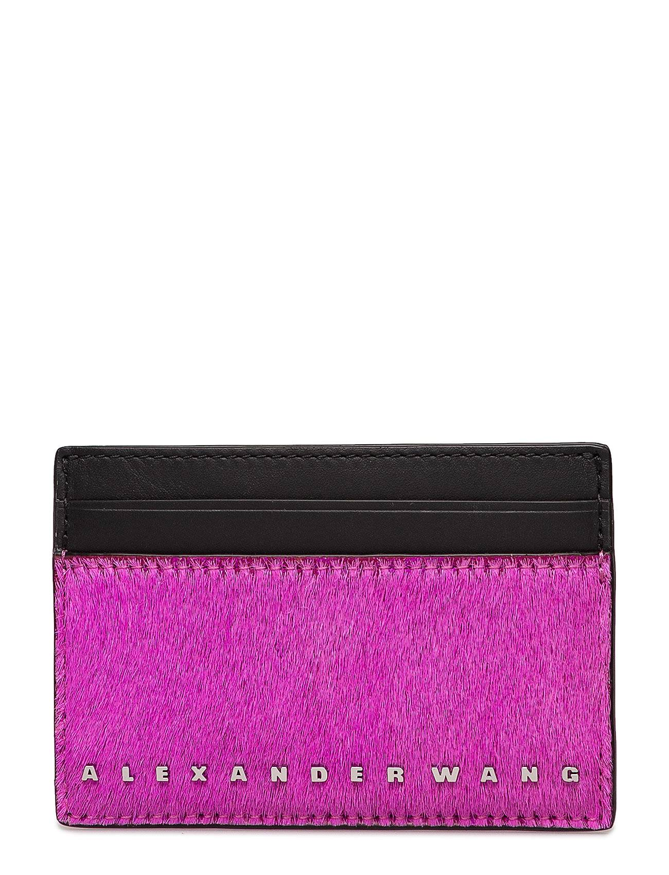 Alexander Wang Dime Card Case Fuchsia Haircalf/Blk Smooth/Ir