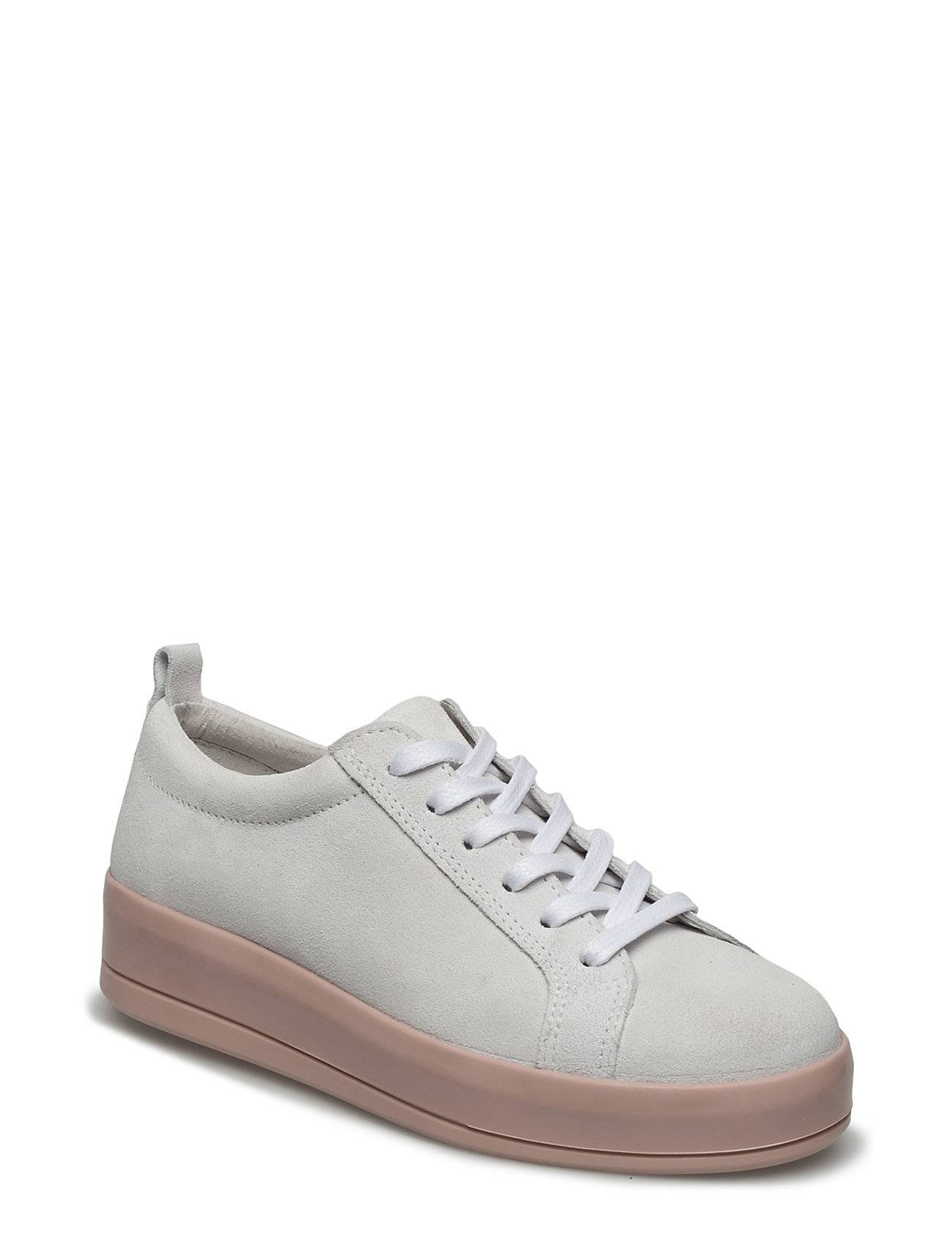 Bianco Flatform Suede Laced Up Exp17