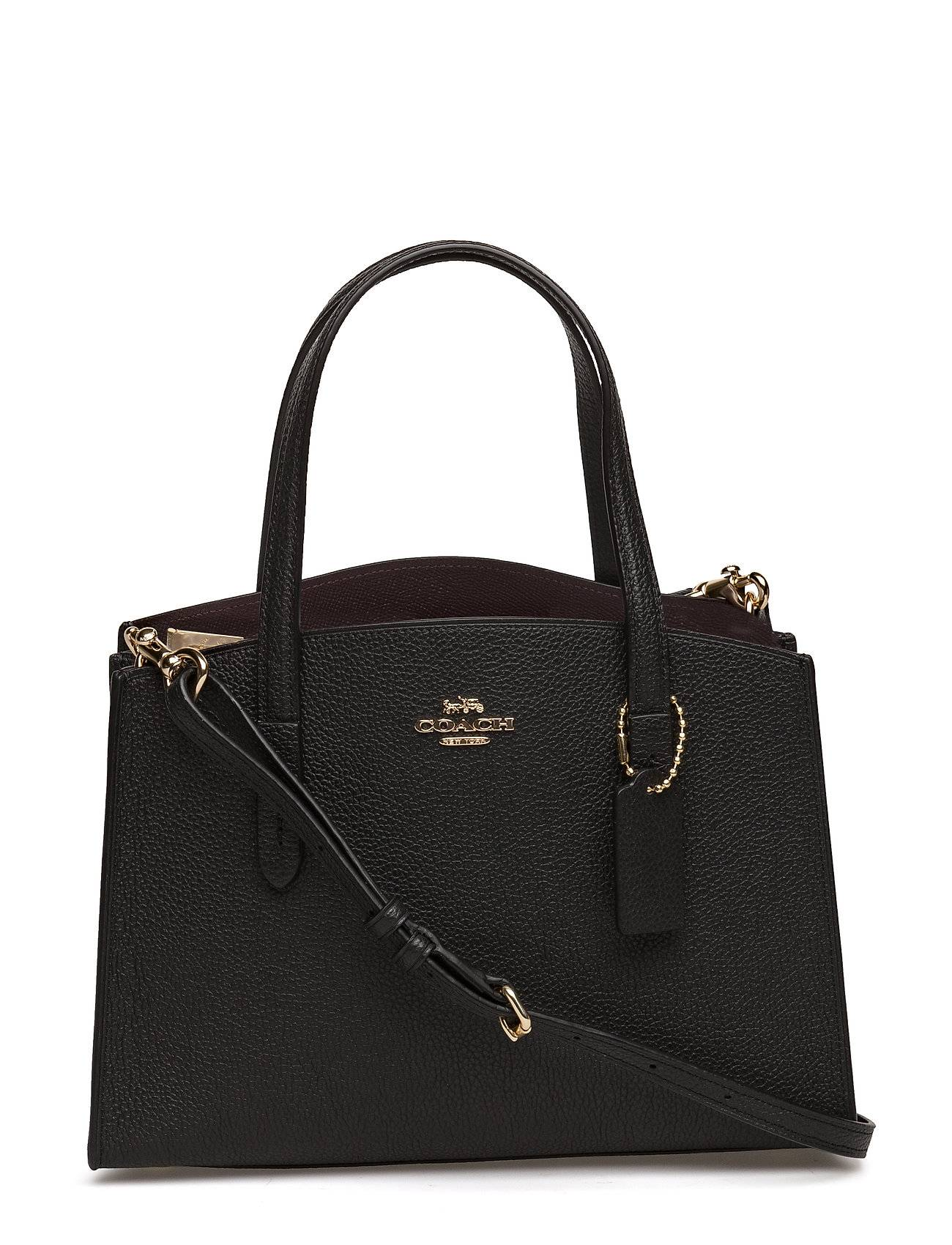 Coach Polished Pebble Leather Charlie 28 Carryall