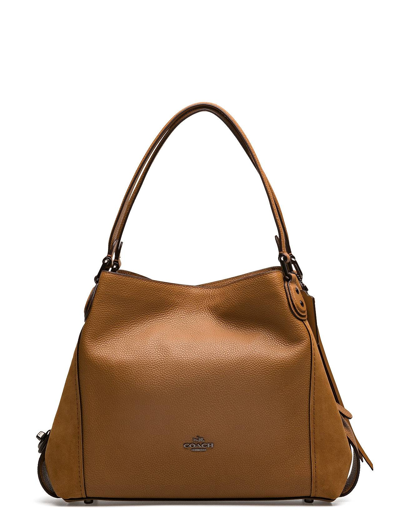 Coach Mixed Leather Edie 31 Shoulder Bag