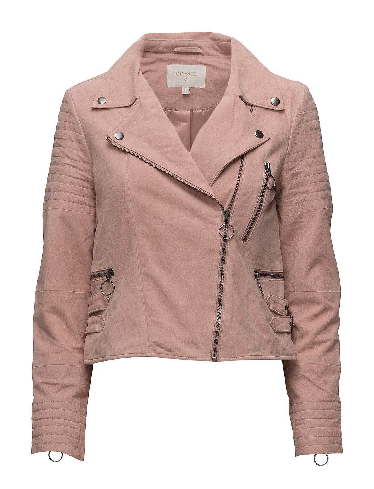Cream Marion Suede Bikerjacket