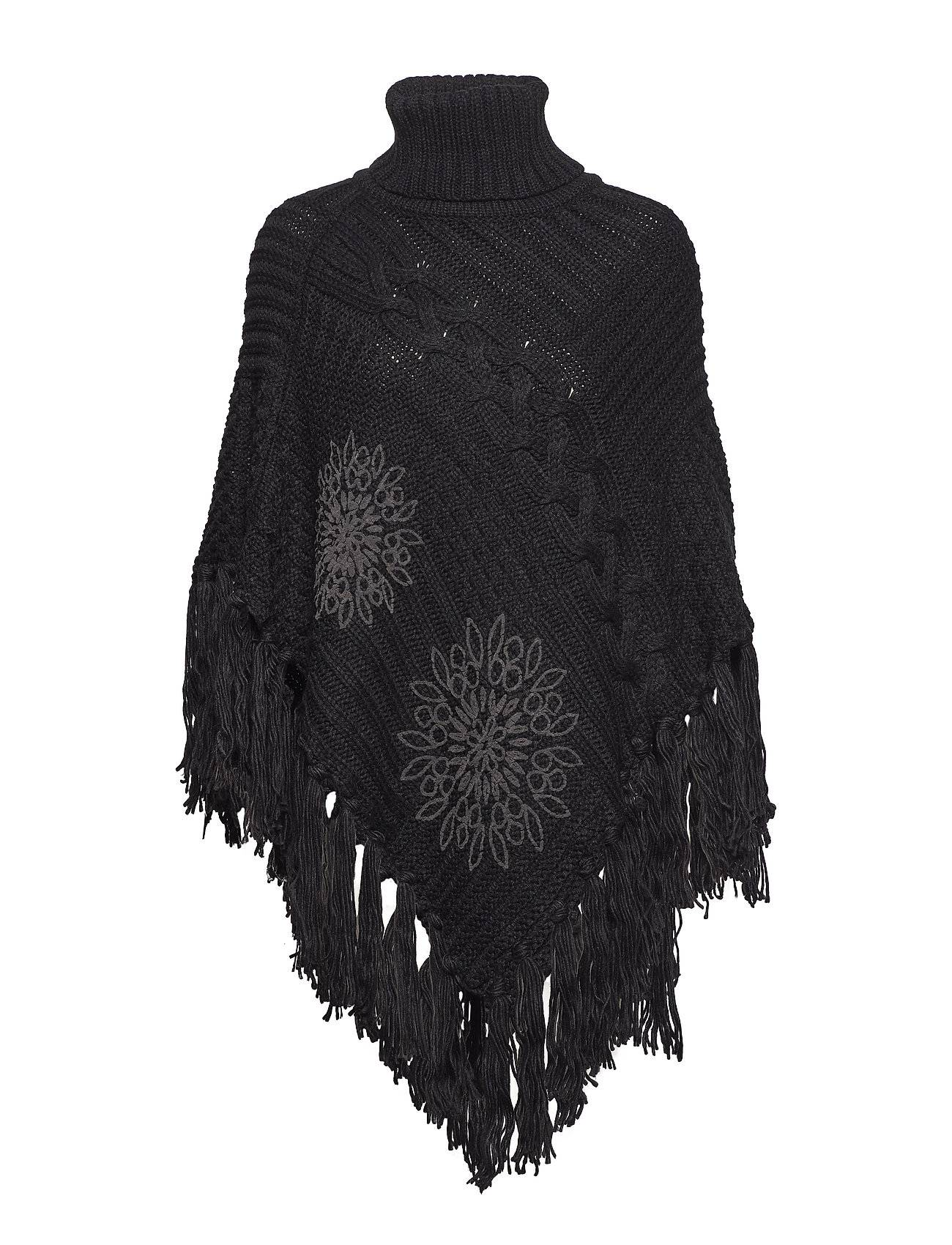 Desigual Accessories Knitted Poncho Soft
