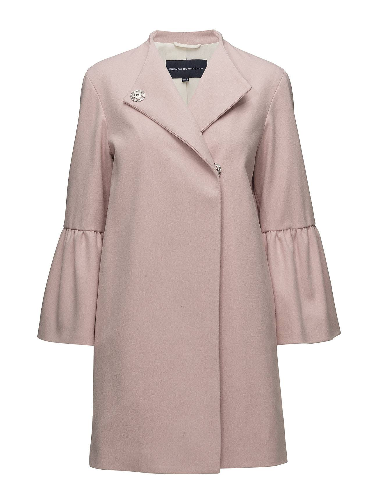 French Connection Platform Felt Bell Sleeve Coat