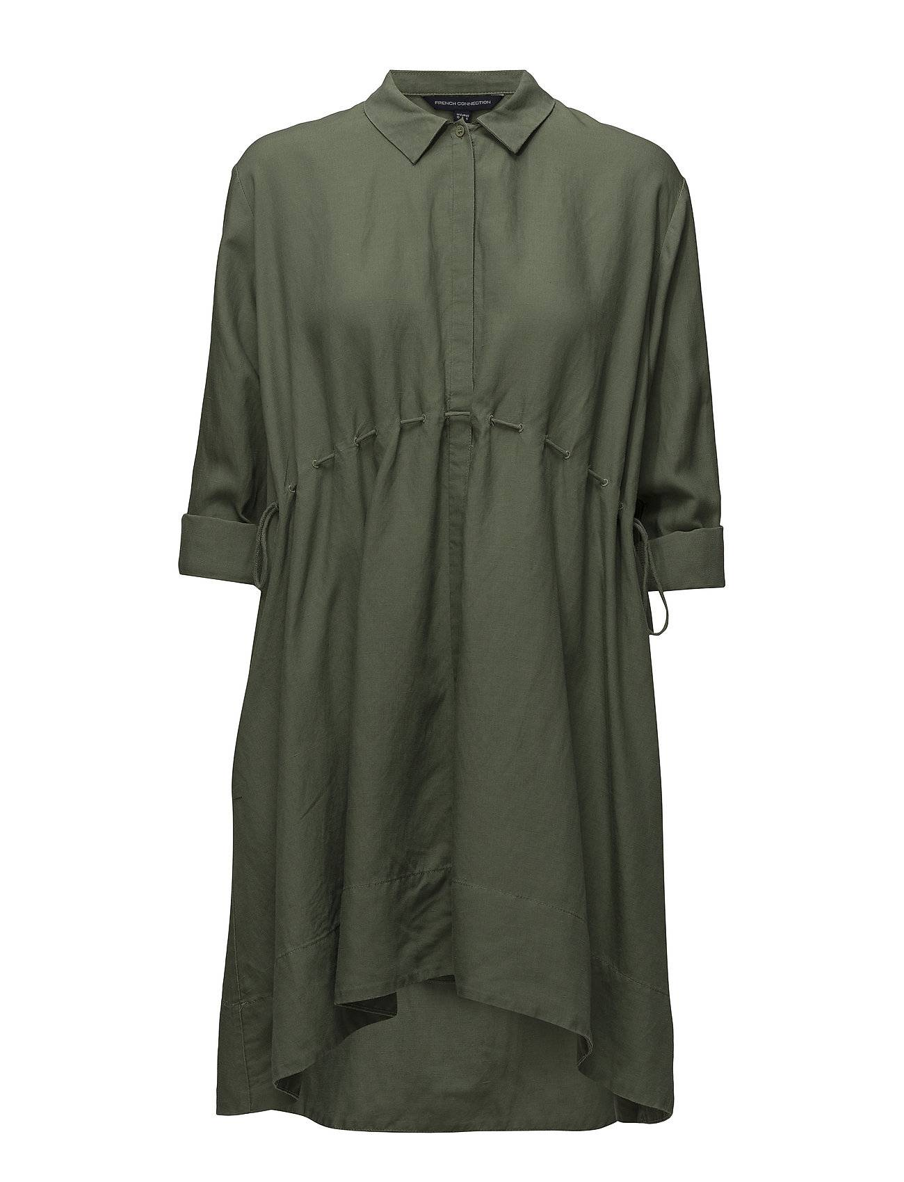 French Connection Ellesmere Drape Long Sleeve Flared Dress