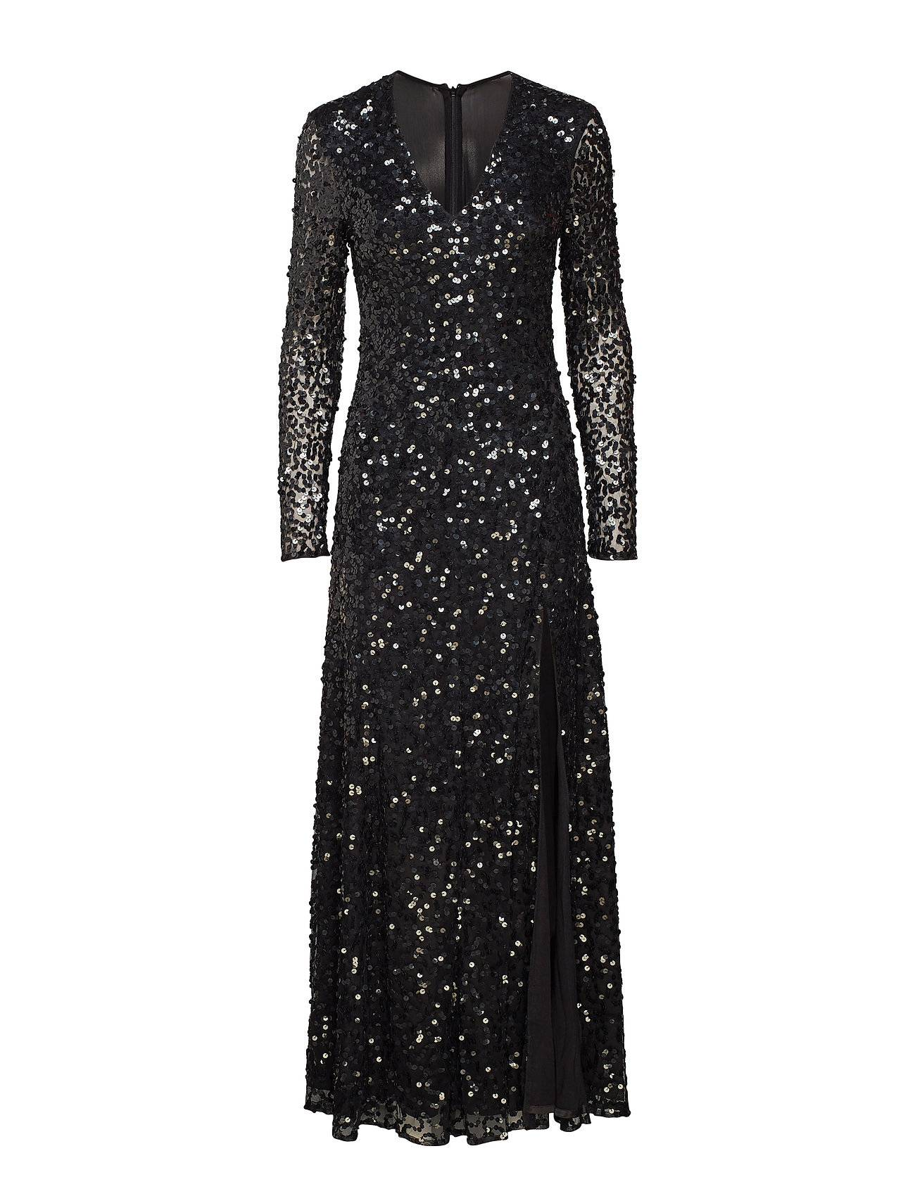 French Connection Helena Sparkle Plungng Nk Maxi