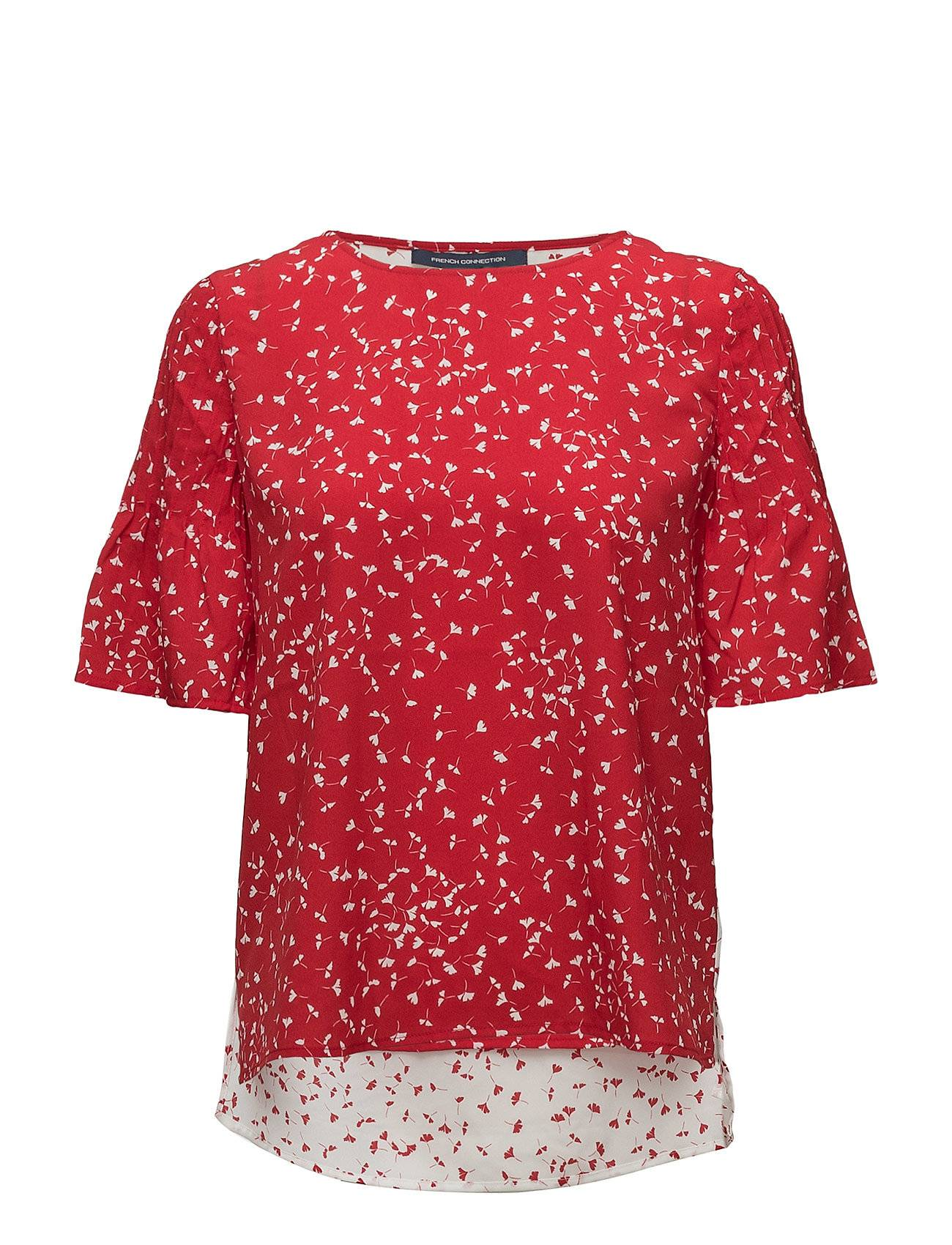 French Connection Komo Crepe Light Roundneck Top